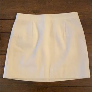 JCrew Cream Wool Skirt- 16in length